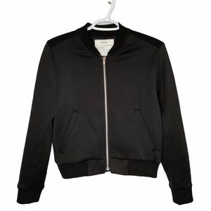 Snidel black bomber zip front jacket